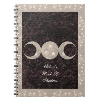 Livre tiré à quatre épingles de conception de lune