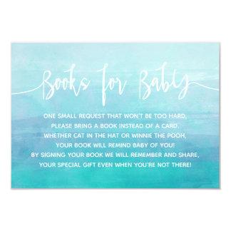 Livres bleus d'aquarelle pour la carte de bébé