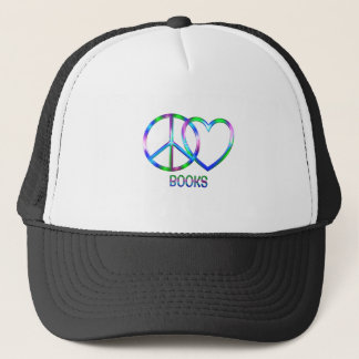 Livres brillants d'amour de paix casquette