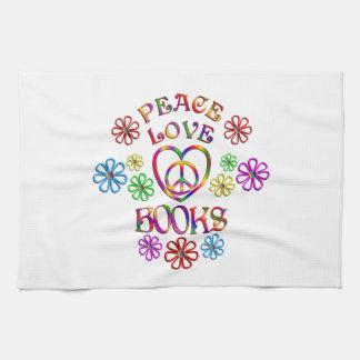 Livres d'amour de paix linge de cuisine