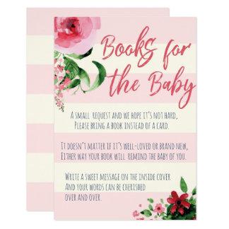 Livres de baby shower pour la carte de bébé
