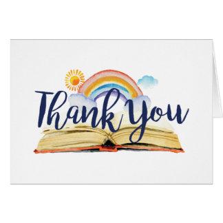 Livres et carte de remerciements de brunch