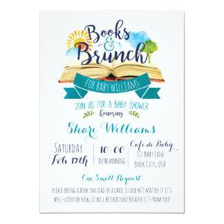 Livres et invitation de baby shower de brunch -