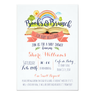 Livres et invitation de baby shower de brunch