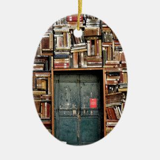 Livres et livres ornement ovale en céramique