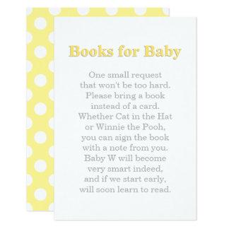 Livres pour la carte | de bébé jaune et le gris carton d'invitation 8,89 cm x 12,70 cm