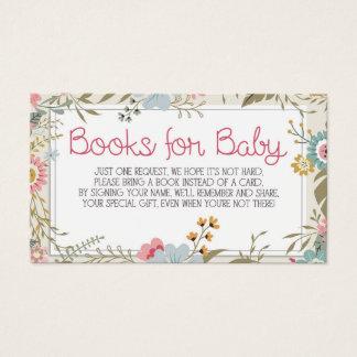 Livres pour le baby shower d'insertion de carte de