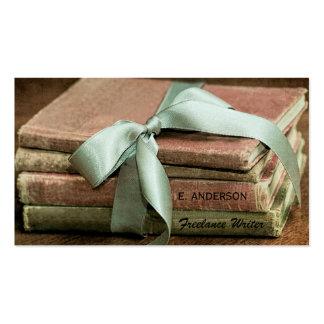 Livres vintages avec l'écrivain indépendant en bon carte de visite standard
