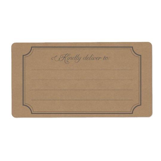 """""""livrez avec bonté"""" aux étiquettes postales"""