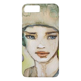 llustration d'une belle, sensible fille coque iPhone 7 plus
