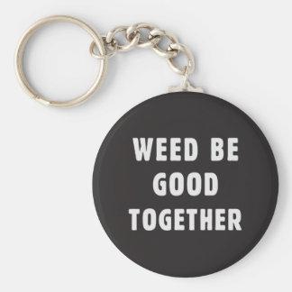 L'mauvaise herbe soit bonne ensemble porte-clé rond