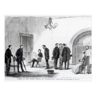 Lobby de la Maison Blanche à Washington Carte Postale