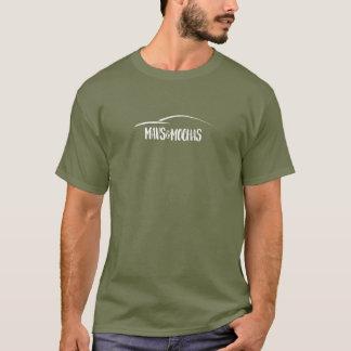 L'obscurité de Mavs et de mokas a centré une ligne T-shirt