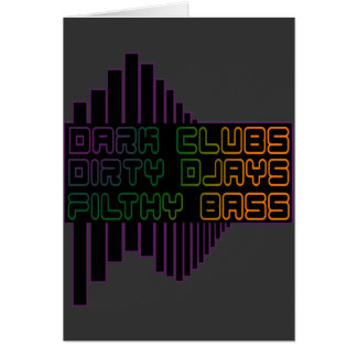 L'obscurité matraque le CLUB bas dégoûtant sale DJ Carte De Vœux