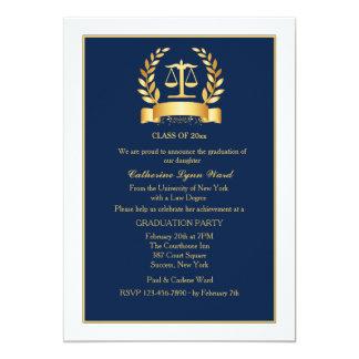 L'obtention du diplôme honore la marine et carton d'invitation  12,7 cm x 17,78 cm