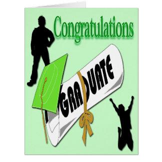 L'obtention du diplôme verte de casquette de carte de vœux grand format