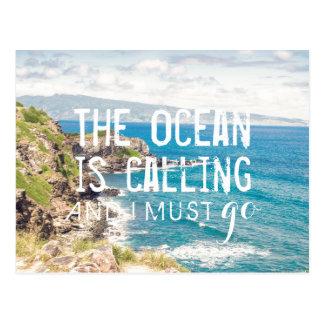 L'océan appelle - carte postale de la côte | de