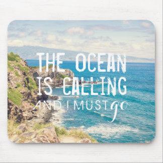 L'océan appelle - la côte | Mousepad de Maui Tapis De Souris