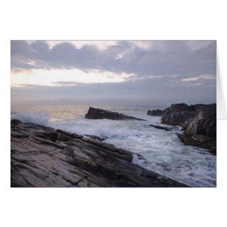 L'Océan Atlantique au lever de soleil au Maine Cartes