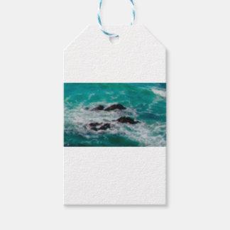 l'océan bascule le rivage étiquettes-cadeau
