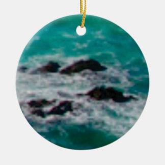 l'océan bascule le rivage ornement rond en céramique