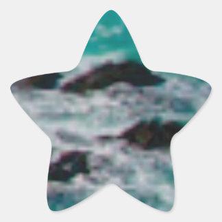 l'océan bascule le rivage sticker étoile