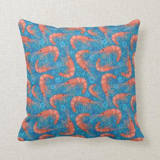 L'océan de corail de crevette rose de crevette coussin