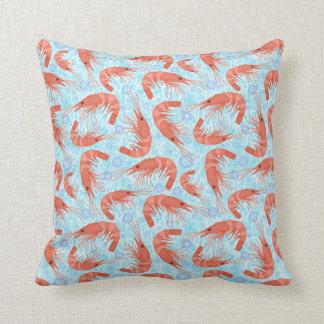 L'océan de corail de crevette rose de crevette coussins carrés