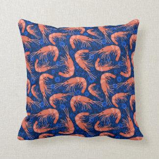 L'océan de corail de crevette rose de crevette oreiller