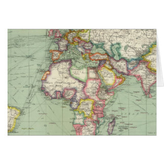 L'Océan Indien, l'Océan Atlantique Carte De Vœux
