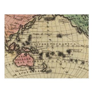 L'océan pacifique, îles britanniques carte postale