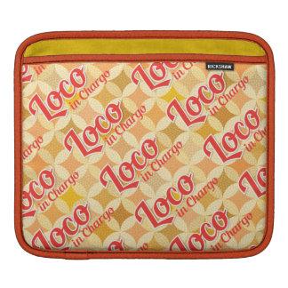 Loco à l'arrière-plan audacieux de motif de Chargo Poches iPad