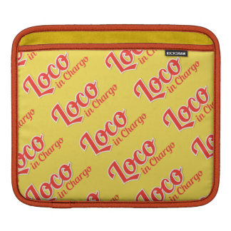 Loco à l'arrière-plan simple audacieux de Chargo Housses iPad