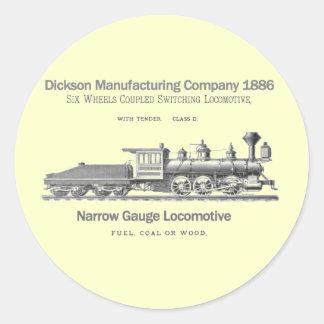 Locomotive 1886 de commutation de Dickson Adhésifs Ronds