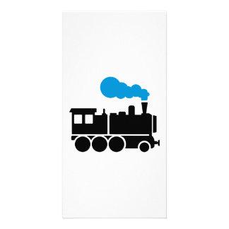 Locomotive Carte Avec Photo