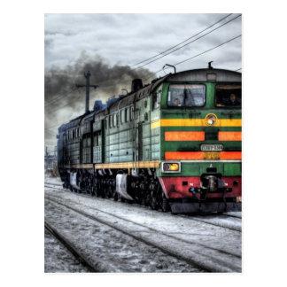 Locomotive de train de la Russie Carte Postale