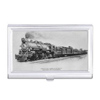 Locomotive Pacifique du rail de Baltimore et de Étuis Pour Cartes De Visite