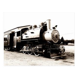 locomotive pour un train vintage de vapeur carte postale