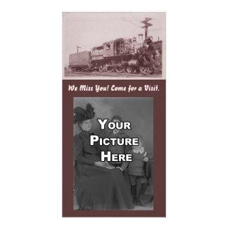 Locomotive vintage Photocard de Baldwin Photocartes Personnalisées