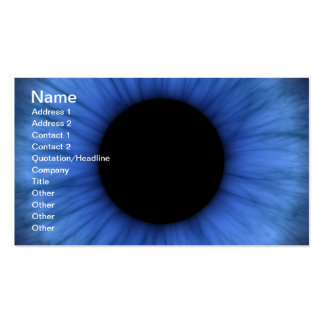 l'oeil bleu est mignon carte de visite standard