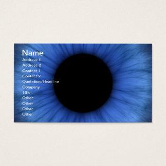 l'oeil bleu est mignon cartes de visite
