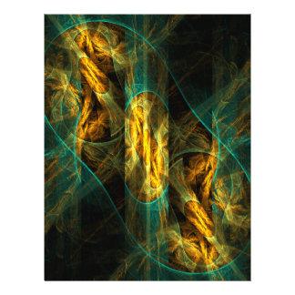 L'oeil de l'insecte d'art abstrait de jungle prospectus 21,6 cm x 24,94 cm