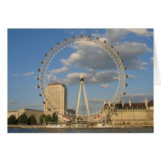 L'oeil de Londres - carte pour notes vide