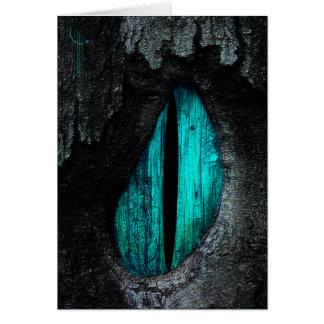 L'oeil d'un dragon carte de vœux