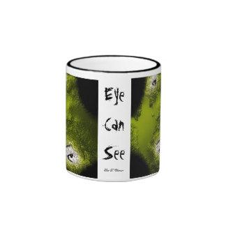 L'oeil peut voir mug à café