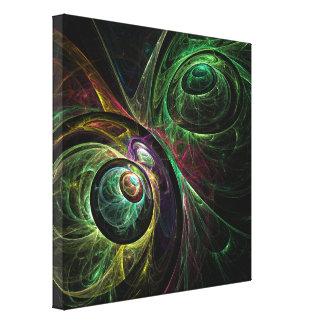 L'oeil pour observer l'art abstrait a enveloppé la toiles