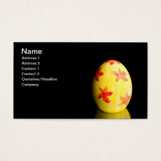 L'oeuf de pâques jaune cartes de visite
