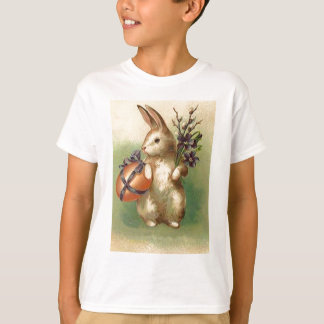 L'oeuf de pâques vintage de lapin de Pâques T-shirt