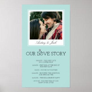 L'oeuf Love Story l'épousant bleu de Robin Poster