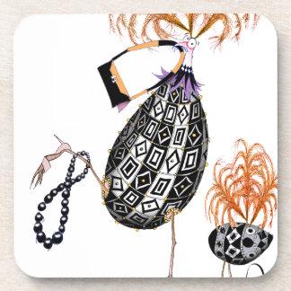 L'oeuf ouvrier d'opale noire, fernandes élégants sous-bocks